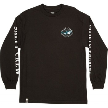 Textil Homem T-shirt mangas compridas Salty Crew T-shirt à manches longues  Deadeye Standard noir