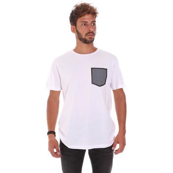 Textil Homem T-Shirt mangas curtas Antony Morato MMKS01025 FA100084 Branco