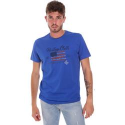 Textil Homem T-Shirt mangas curtas Key Up 2G83S 0001 Azul