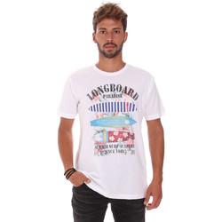 Textil Homem T-Shirt mangas curtas Key Up 2D45S 0001 Branco