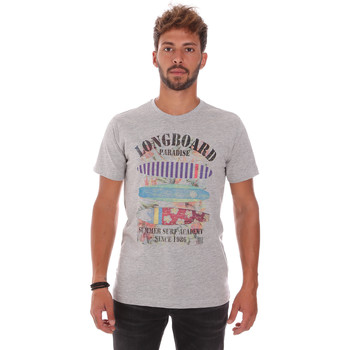 Textil Homem T-Shirt mangas curtas Key Up 2D45S 0001 Cinzento
