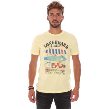 Textil Homem T-Shirt mangas curtas Key Up 2D45S 0001 Amarelo