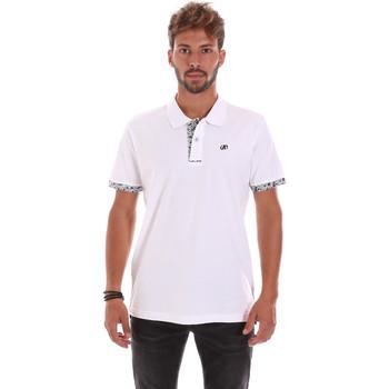 Textil Homem Polos mangas curta Key Up 2R53G 0001 Branco