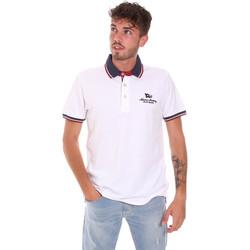 Textil Homem Polos mangas curta Key Up 2Q60G 0001 Branco