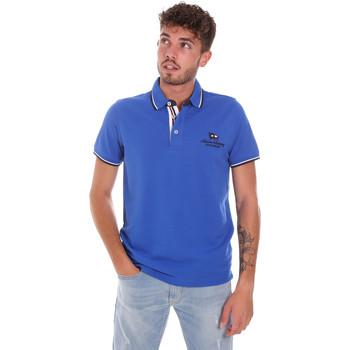 Textil Homem Polos mangas curta Key Up 2Q60G 0001 Azul
