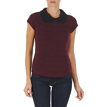 Textil Mulher camisolas Manoush TOP CROCHET CŒUR Bordô