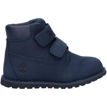 Sapatos Rapaz Botas baixas Timberland A2H1M POKEY PINE Azul
