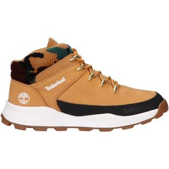 Sapatos Criança Sapatilhas de cano-alto Timberland A2GWQ BROOKLYN EURO SPRINT Beige