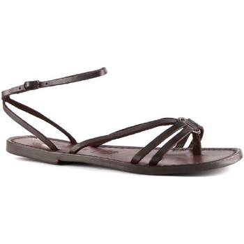 Sapatos Mulher Sandálias Gianluca - L'artigiano Del Cuoio 535 D MORO CUOIO Testa di Moro