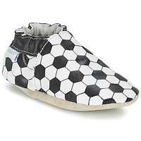 Sapatos Rapaz Pantufas bebé Robeez GOAL Preto / Branco