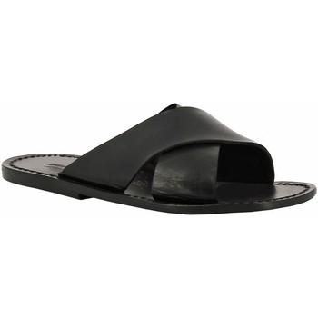 Sapatos Mulher Chinelos Gianluca - L'artigiano Del Cuoio 560 U NERO CUOIO nero