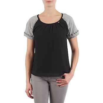 Textil Mulher T-Shirt mangas curtas Lollipops PADELINE TOP Preto / Cinza