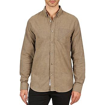 Textil Homem Camisas mangas comprida Kulte CHEMISE CLAY 101799 BEIGE Bege