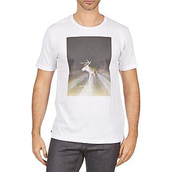 Textil Homem T-Shirt mangas curtas Kulte BALTHAZAR PLEIN PHARE 101931 BLANC Branco