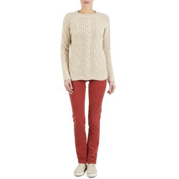 Textil Mulher Calças Kulte PANTALON PLANCHER 101819 ROUGE Vermelho