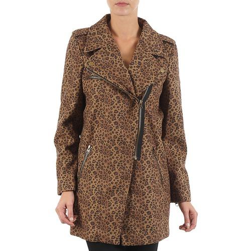 Textil Mulher Casacos Brigitte Bardot BB43110 Castanho / Leopardo