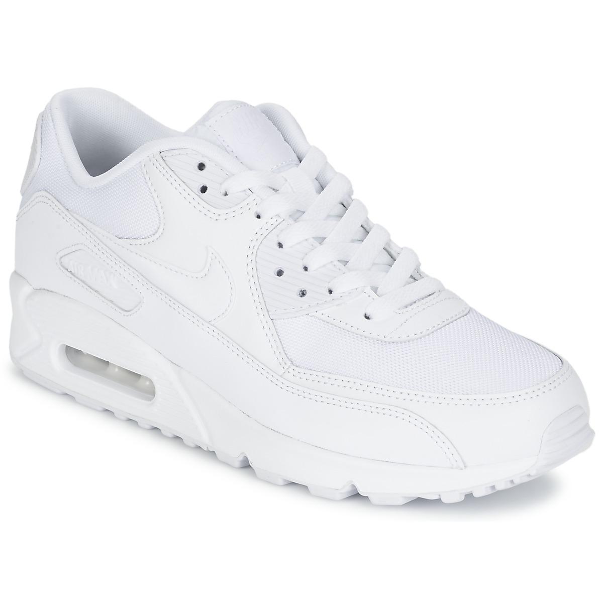 623d980db0e Nike AIR MAX 90 ESSENTIAL Branco - Entrega gratuita com a Spartoo.pt ! -  Sapatos Sapatilhas Homem 122