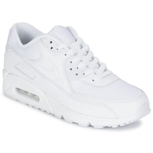 Nike AIR MAX 90 ESSENTIAL Branco - Entrega gratuita com a Spartoo.pt ... 298c84b6f5a11