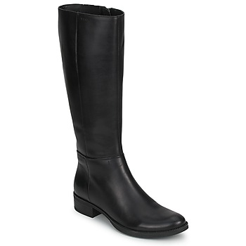 Sapatos Mulher Botas Geox MENDI STIVALI BASIC Preto