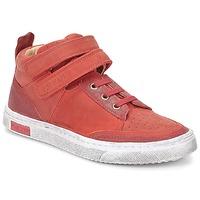Sapatos Rapariga Sapatilhas de cano-alto Pom d'Api BACK BASKET Vermelho