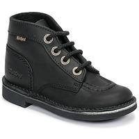 Sapatos Criança Botas baixas Kickers KICK COL Preto