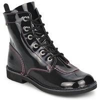 Sapatos Rapariga Botas baixas Kickers KICK MOOD Preto / Verniz