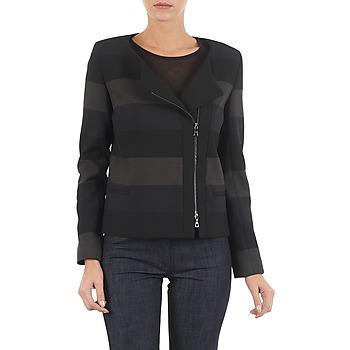 Textil Mulher Casacos/Blazers Lola VIE DUP Preto / Cinza