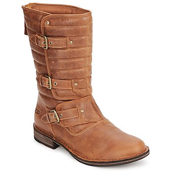 Sapatos Mulher Botas UGG TATUM Castanha