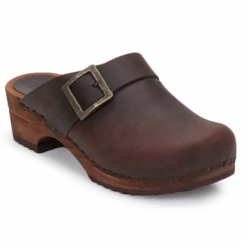 Sapatos Mulher Tamancos Sanita URBAN OPEN Castanho