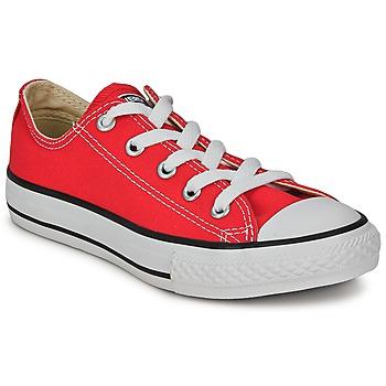 Sapatos Criança Sapatilhas Converse ALL STAR OX Vermelho