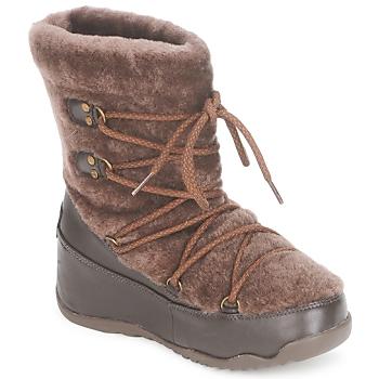 Sapatos Mulher Botas de neve FitFlop SUPERBLIZZ Chocolate