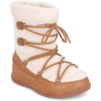 Sapatos Mulher Botas de neve FitFlop SUPERBLZZ Bege / Castanho