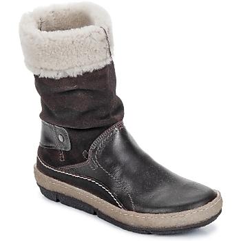 Sapatos Mulher Botas baixas Snipe POLIGHT SUEDE DOUBLE FACE Chocolate / Castanho