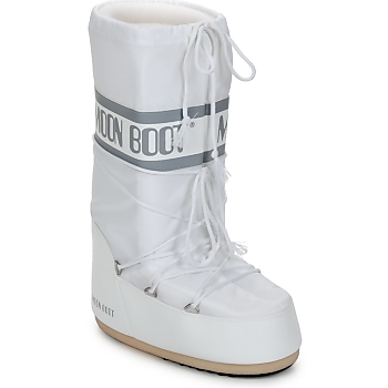 Sapatos Mulher Botas de neve Moon Boot CLASSIC Branco / Prata