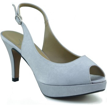Sapatos Mulher Sandálias Marian ZAPATO SALON DE FIESTA PUNTA ABIERTA MUJER PLATA