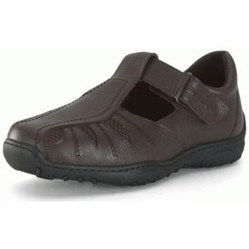 Sapatos Homem Sapatos Calzamedi SANDALIA PARA HOMBRE DIABETICO. COMODA Y ANCHA MARRON
