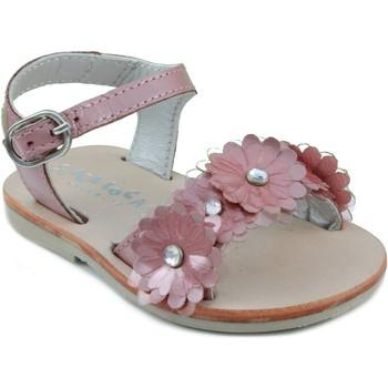 Sapatos Criança Sandálias Oca Loca OCA LOCA SANDALIA PIEL CHAROL PINK
