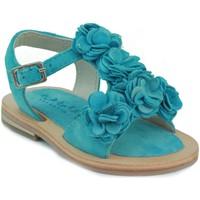 Sapatos Rapariga Sandálias Oca Loca OCA LOCA SANDALIA BEBE PIEL FLORES CELESTE