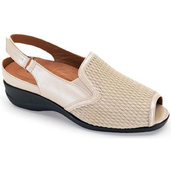 Sapatos Mulher Sandálias Calzamedi SANDALIA PALA ELASTICA COMODA BEIGE