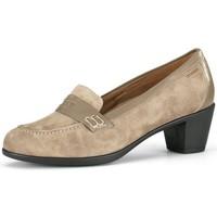 Sapatos Mulher Escarpim Calzamedi ANCHO ESPECIAL MOCASIN MUJER BEIGE