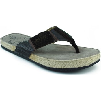 Sapatos Homem Chinelos MTNG MUSTANG SERRAJE CANVAS DEDO MARRON
