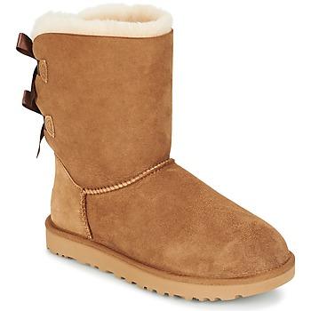 Sapatos Mulher Botas baixas UGG BAILEY BOW II Castanha