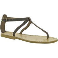 Sapatos Mulher Sandálias Gianluca - L'artigiano Del Cuoio 582 D MORO LGT-CUOIO Testa di Moro