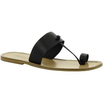 Sapatos Mulher Chinelos Gianluca - L'artigiano Del Cuoio 554 U NERO LGT-CUOIO nero
