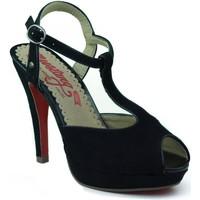 Sapatos Mulher Sandálias MTNG MUSTANG AFELPADO NEGRO