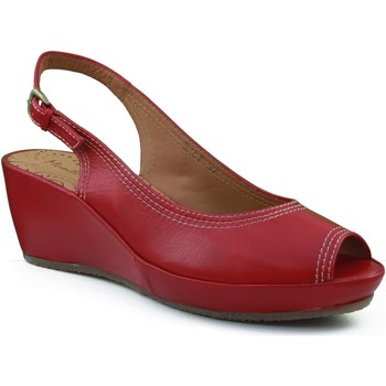 Sapatos Mulher Sandálias Montesinos CON CUÑA MUY COMODA Y ANATOMICA ROJO