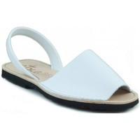 Sapatos Chinelos Arantxa MENORQUINA DE PIEL BLANCO