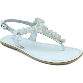 Sapatos Rapariga Sandálias Oca Loca OCA LOCA ESCLAVA NAPA BOLAS BLANCO