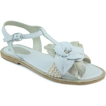 Sapatos Rapariga Sandálias Oca Loca OCA LOCA SANDALIA ANTE RAFIA BLANCO