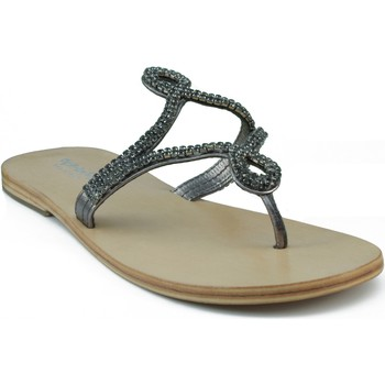 Sapatos Mulher Sandálias Oca Loca OCA LOCA ESCLAVA STRASS GRIS